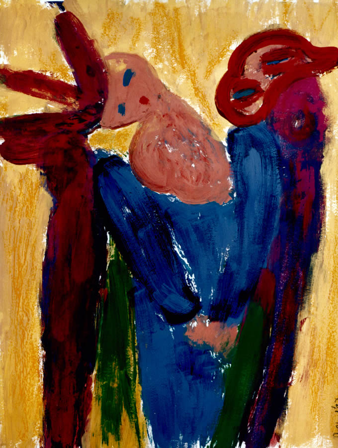 136 Vrouw Een, 1997, 83 x 63, gemengd, verkocht