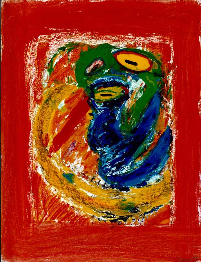 188 Gele Vogel 3, 1999 83 x 63, gemengd, 400,-