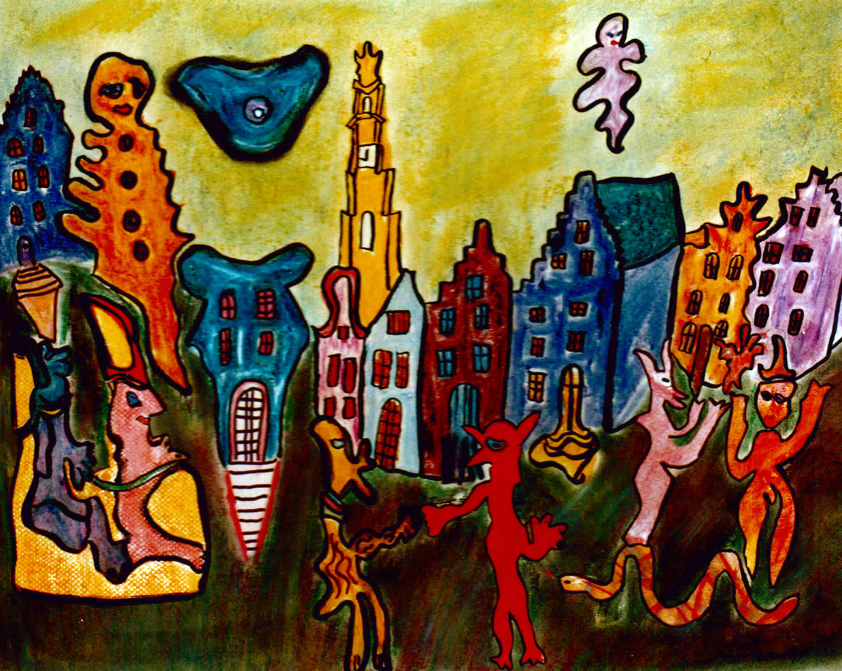 44 Slang, 1995, 53 x 63, pastel, verkocht