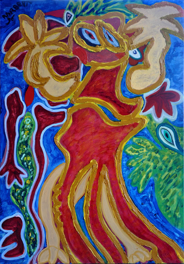 46 Radeloos, 1996 100 x 70 olieverf, verkocht