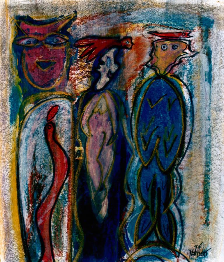 58 Vader met Kind, 1996, 68 x 53, verkocht