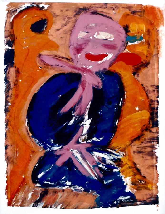 88 Oude Man, 1997, 83 x 63, gemengd, verkocht