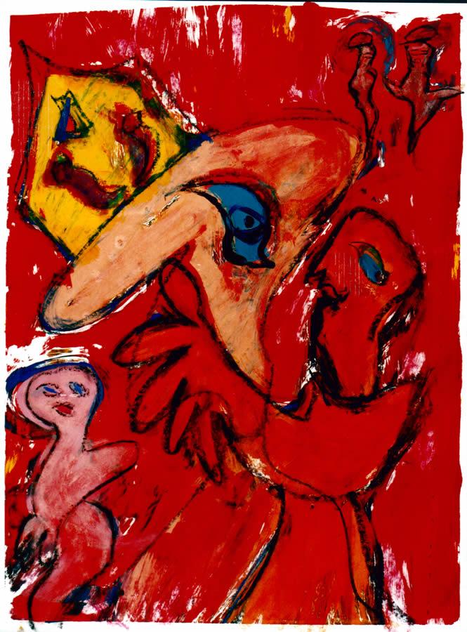 89 De Monnik, 1997, 83 x 68, gemengd, 400,-