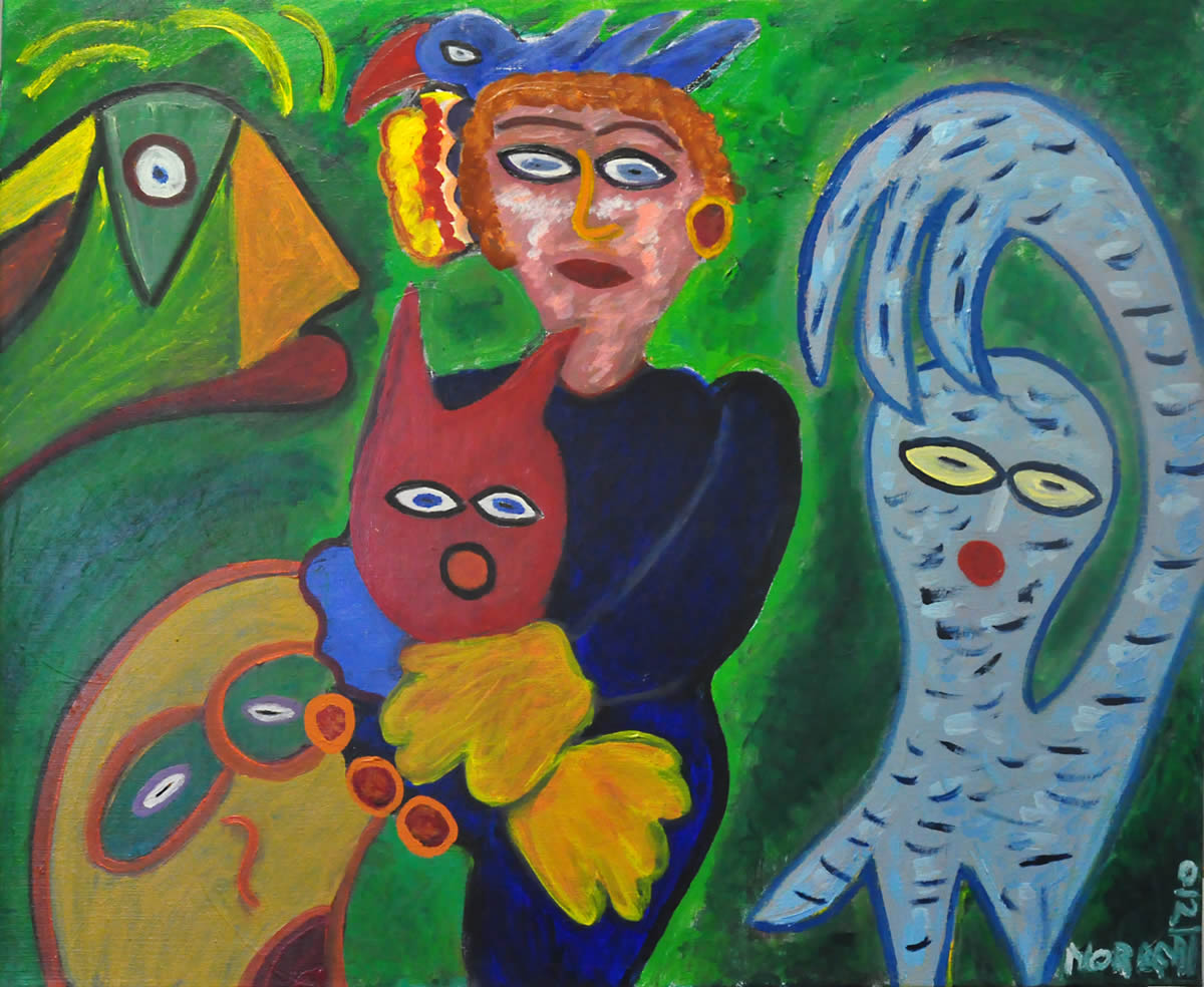 166 De Kater, 1998 80 x 100, olie, 550,-